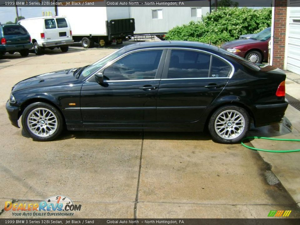 1999 bmw 3 series 328i sedan jet black sand photo 1. Black Bedroom Furniture Sets. Home Design Ideas