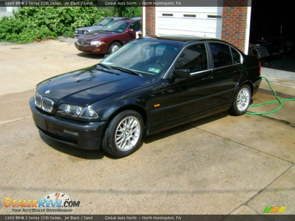 1999 bmw 3 series 328i sedan jet black sand photo 2. Black Bedroom Furniture Sets. Home Design Ideas