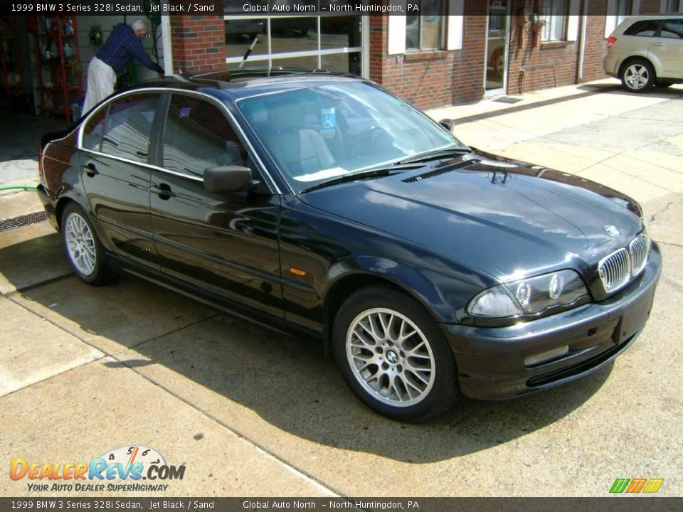 1999 bmw 3 series 328i sedan jet black sand photo 4. Black Bedroom Furniture Sets. Home Design Ideas