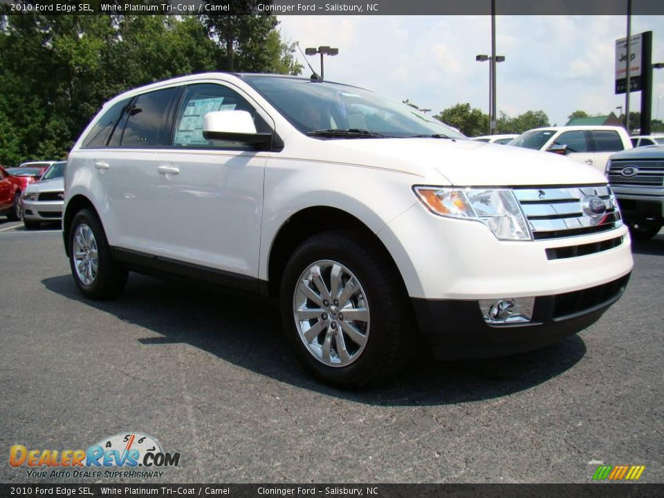 2010 Ford Edge Sel White Platinum Tri Coat Camel Photo