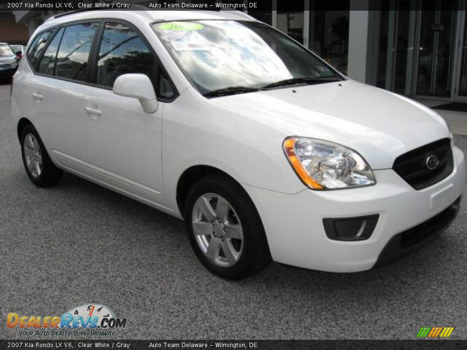 2007 kia rondo lx v6 clear white gray photo 1. Black Bedroom Furniture Sets. Home Design Ideas