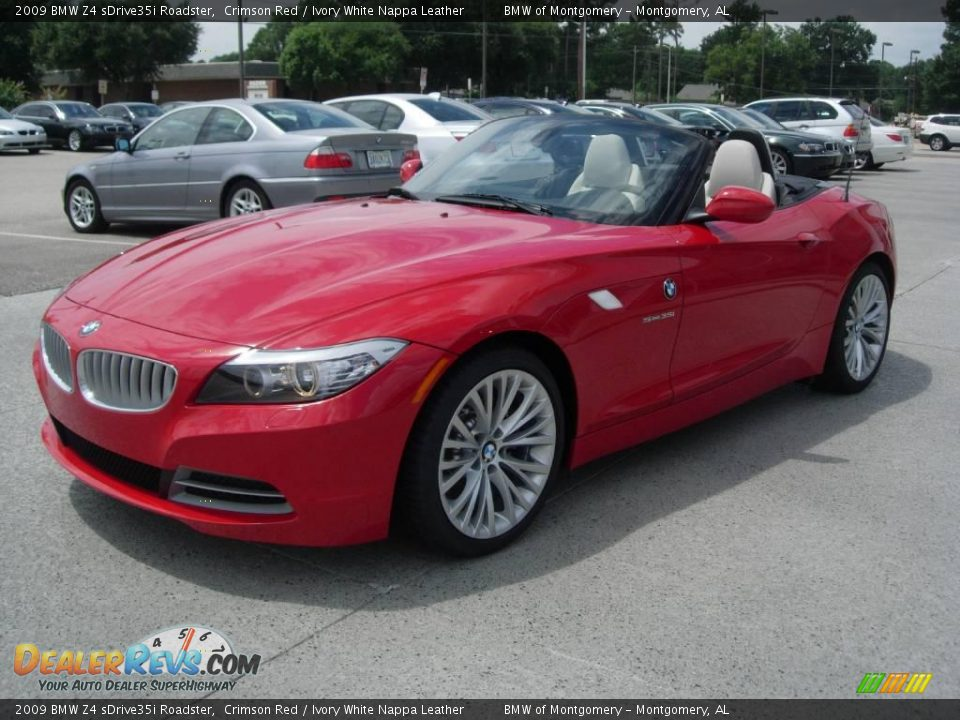 2009 Bmw Z4 Sdrive35i Roadster Crimson Red Ivory White