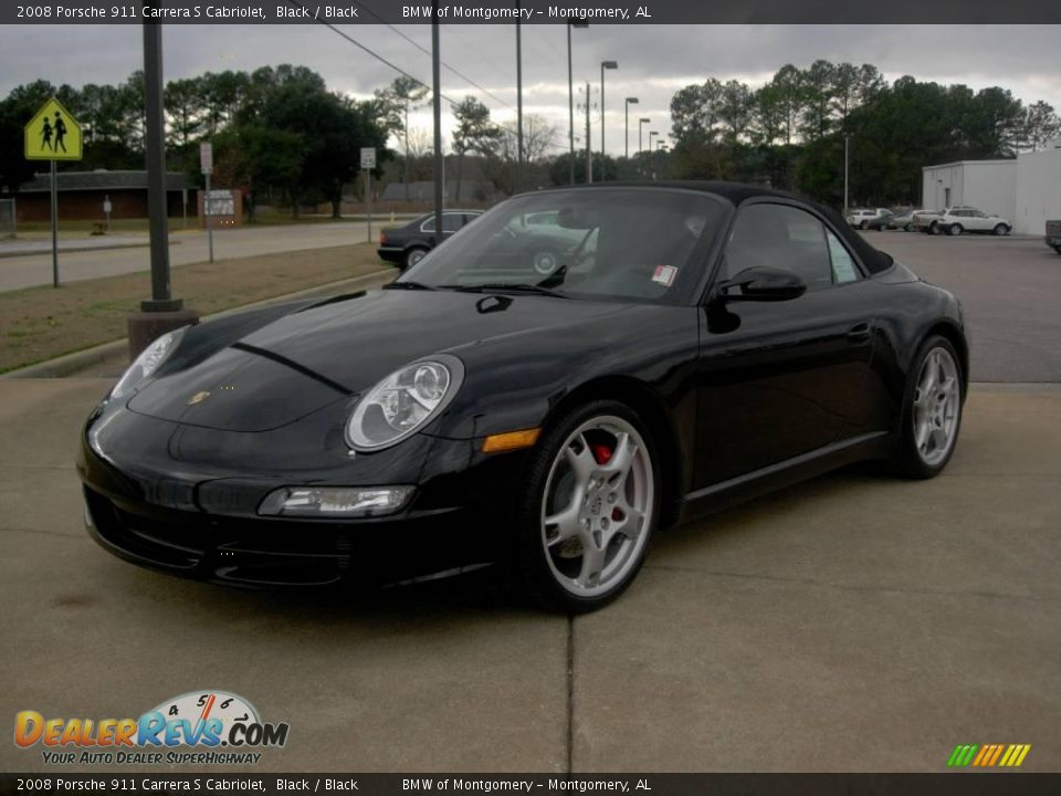 2008 porsche 911 carrera s cabriolet black black photo 1. Black Bedroom Furniture Sets. Home Design Ideas