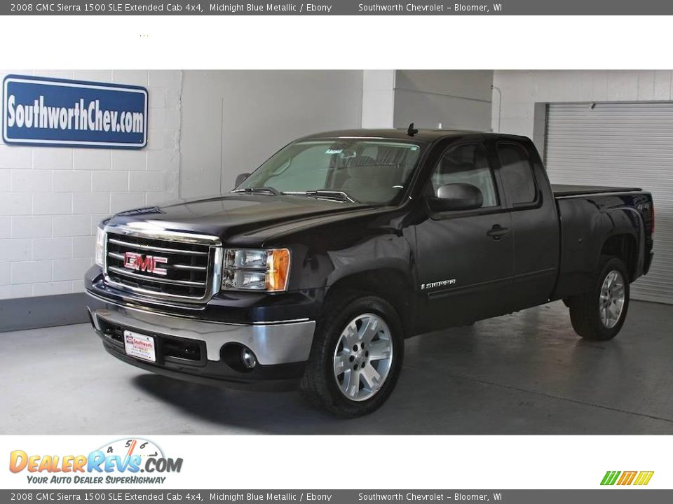 2008 gmc sierra 1500 sle extended cab 4x4 midnight blue. Black Bedroom Furniture Sets. Home Design Ideas