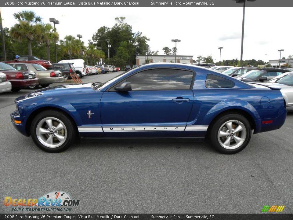 2008 ford mustang v6 premium coupe vista blue metallic. Black Bedroom Furniture Sets. Home Design Ideas