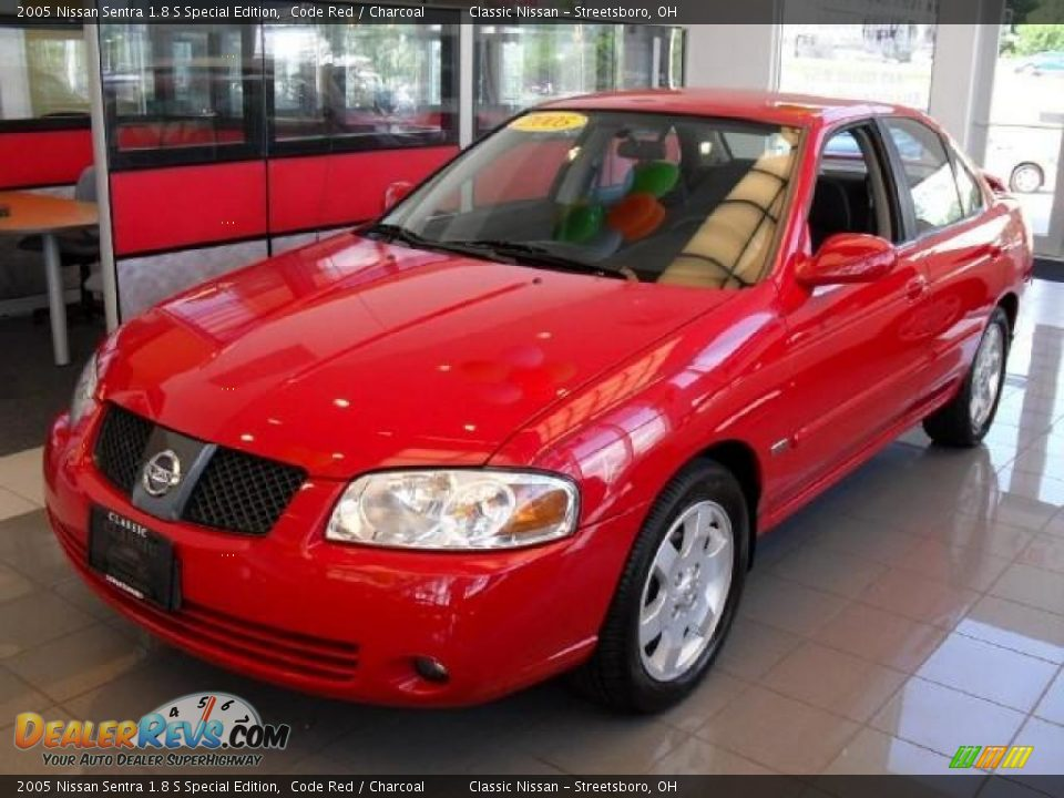 2005 nissan sentra 1 8 s special edition code red charcoal photo 1. Black Bedroom Furniture Sets. Home Design Ideas