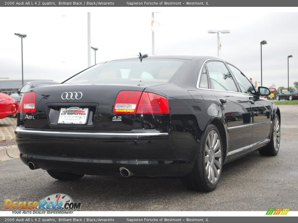 2006 audi a8 l 4 2 quattro brilliant black black amaretto photo 6. Black Bedroom Furniture Sets. Home Design Ideas