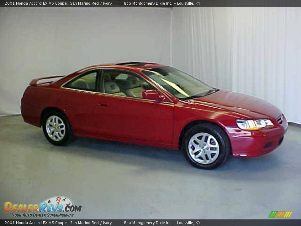 2001 honda accord ex v6 coupe san marino red ivory photo 3. Black Bedroom Furniture Sets. Home Design Ideas