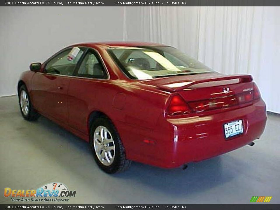 2001 honda accord ex v6 coupe san marino red ivory photo 17. Black Bedroom Furniture Sets. Home Design Ideas