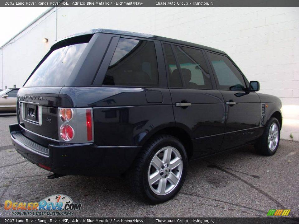 2003 Land Rover Range Rover Hse Adriatic Blue Metallic