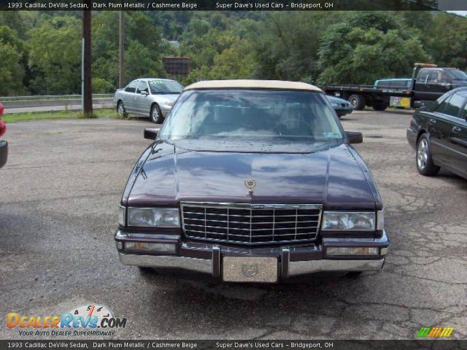 1993 Cadillac DeVille Sedan Dark Plum Metallic / Cashmere Beige Photo #2