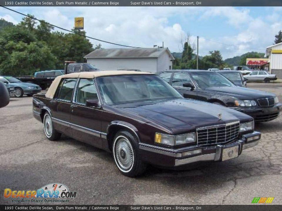 1993 Cadillac DeVille Sedan Dark Plum Metallic / Cashmere Beige Photo #3
