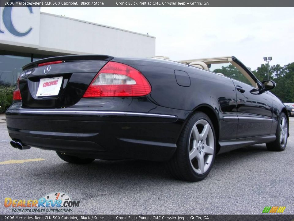 2006 mercedes benz clk 500 cabriolet black stone photo