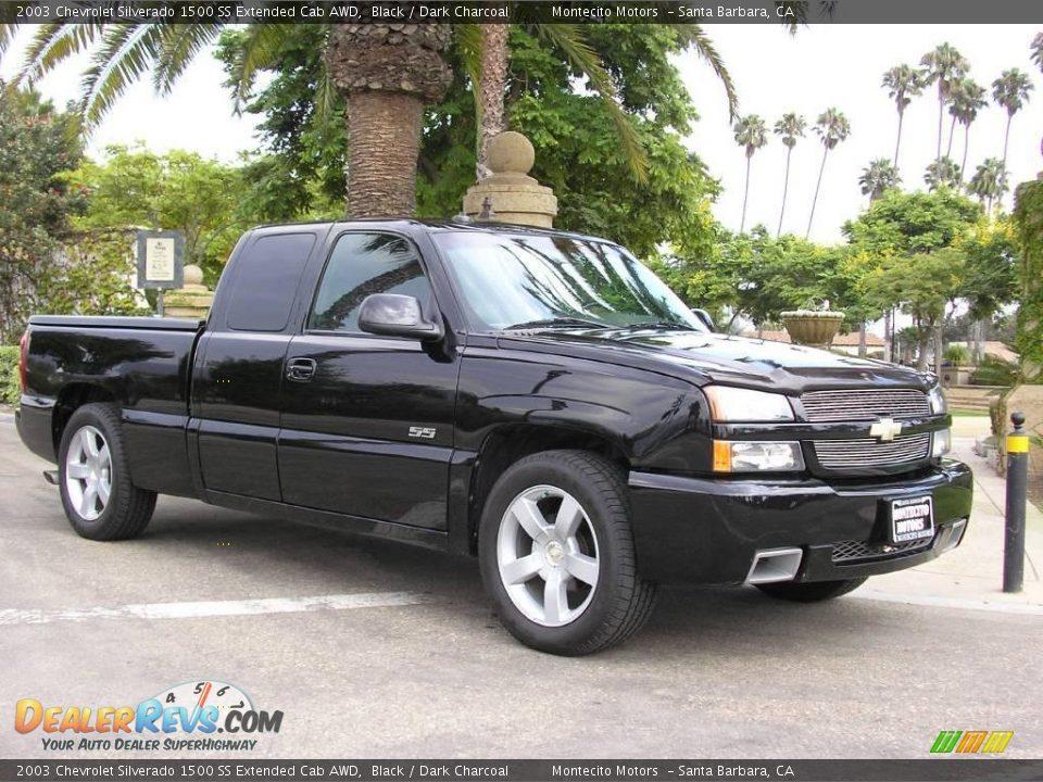 2003 chevrolet silverado 1500 ss extended cab awd black dark charcoal photo 2. Black Bedroom Furniture Sets. Home Design Ideas