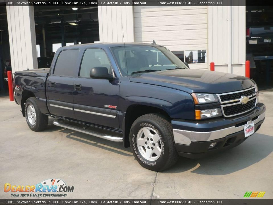 2006 chevrolet silverado 1500 lt crew cab 4x4 dark blue metallic dark charcoal photo 1. Black Bedroom Furniture Sets. Home Design Ideas