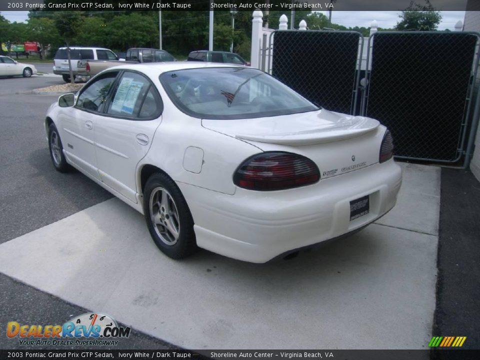 2003 pontiac grand prix gtp sedan ivory white dark taupe photo 4. Black Bedroom Furniture Sets. Home Design Ideas