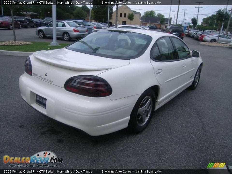 2003 pontiac grand prix gtp sedan ivory white dark taupe photo 6. Black Bedroom Furniture Sets. Home Design Ideas
