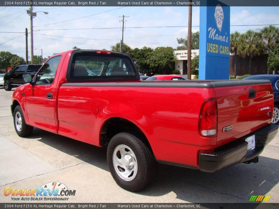2004 ford f150 xl heritage regular cab bright red tan. Black Bedroom Furniture Sets. Home Design Ideas