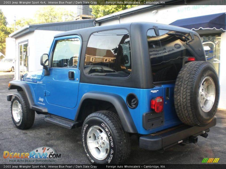 2003 Jeep Wrangler Sport 4x4 Intense Blue Pearl Dark