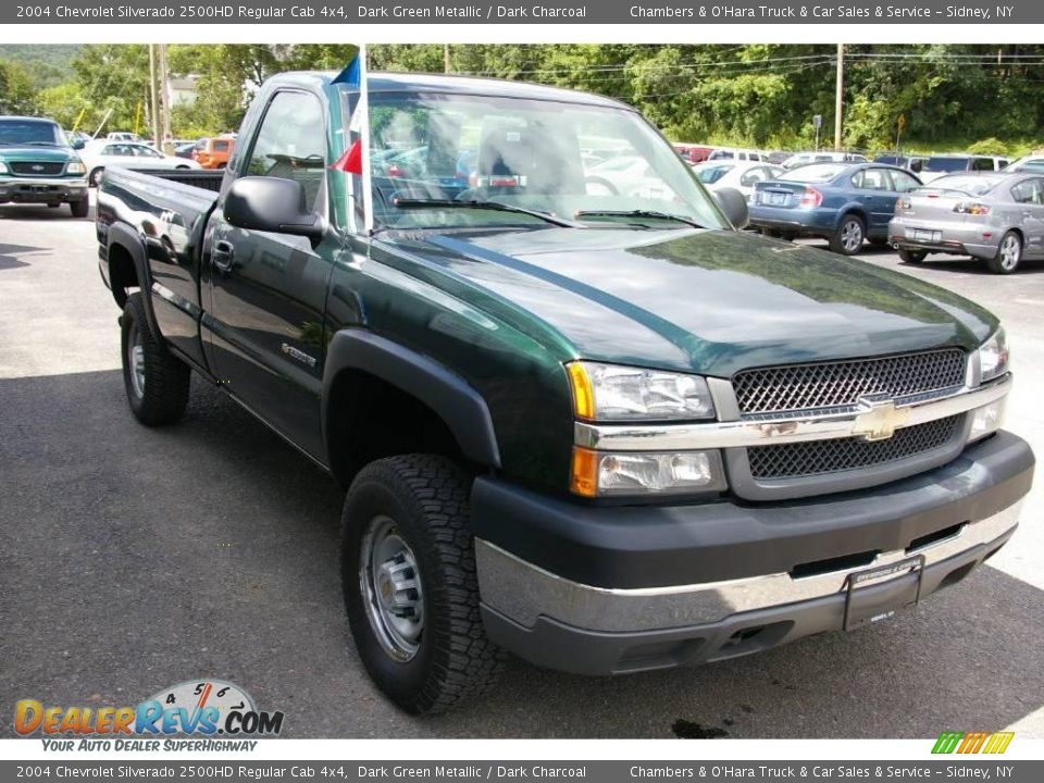 2004 chevrolet silverado 2500hd regular cab 4x4 dark green metallic dark charcoal photo 12. Black Bedroom Furniture Sets. Home Design Ideas