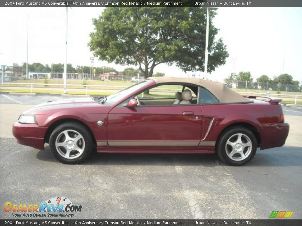 2004 ford mustang v6 convertible 40th anniversary crimson. Black Bedroom Furniture Sets. Home Design Ideas
