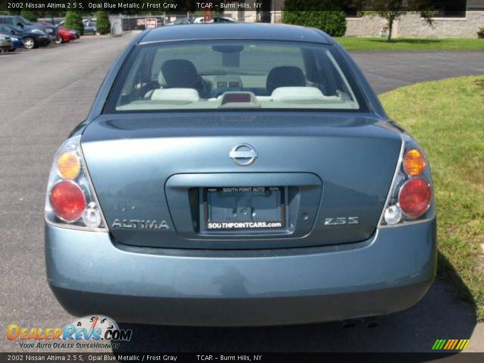 2002 Nissan Altima 2 5 S Opal Blue Metallic Frost Gray