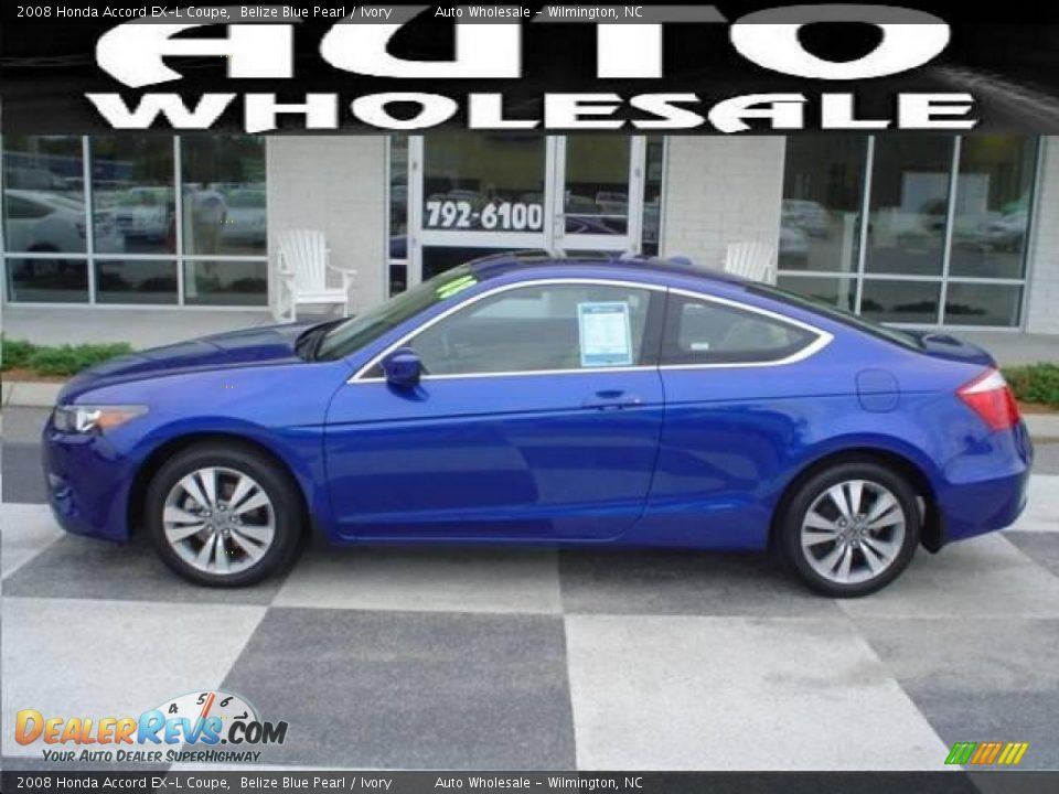 2008 honda accord ex l coupe belize blue pearl ivory for Ocean honda service