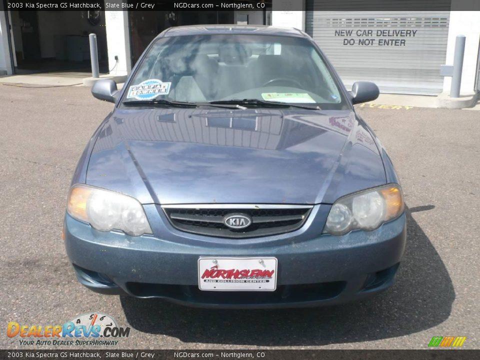 2003 Kia Spectra Gs Hatchback Slate Blue    Grey Photo  2