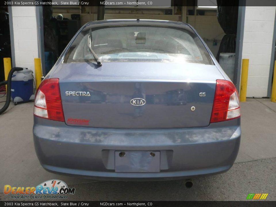 2003 Kia Spectra Gs Hatchback Slate Blue    Grey Photo  4