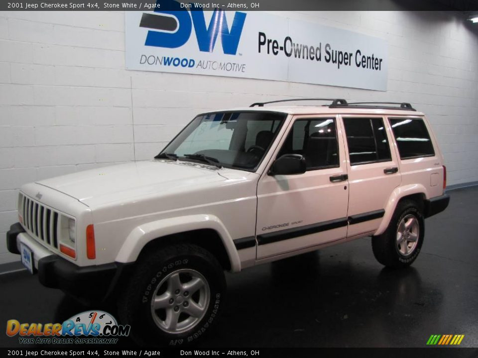 2001 Jeep Cherokee Sport 4x4 Stone White / Agate Photo #2 ...