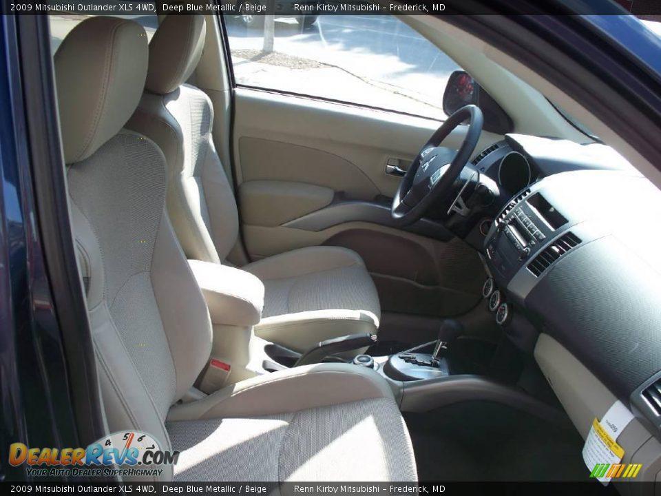 2009 mitsubishi outlander xls 4wd deep blue metallic beige photo 14 dealerrevs com