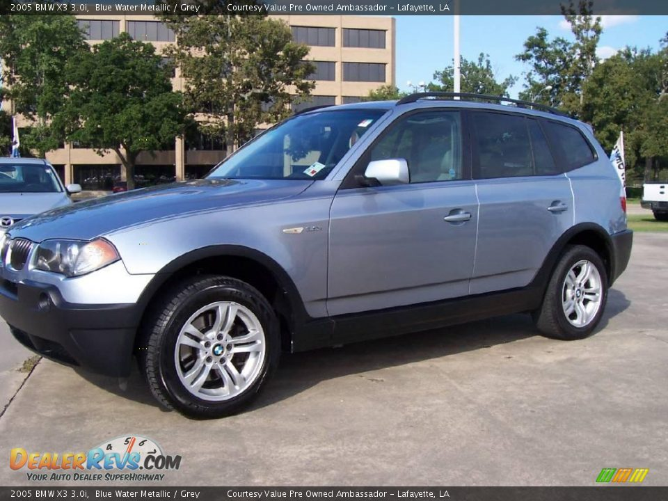 2005 bmw x3 blue water metallic grey photo 1. Black Bedroom Furniture Sets. Home Design Ideas