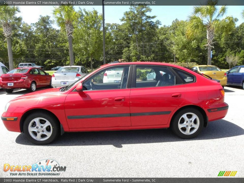 2003 Hyundai Elantra GT Hatchback Rally Red / Dark Gray Photo #2 ...