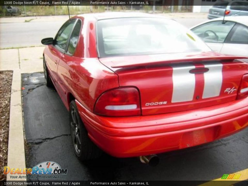 1998 Dodge Neon R  T Coupe Flame Red    Agate Photo  1