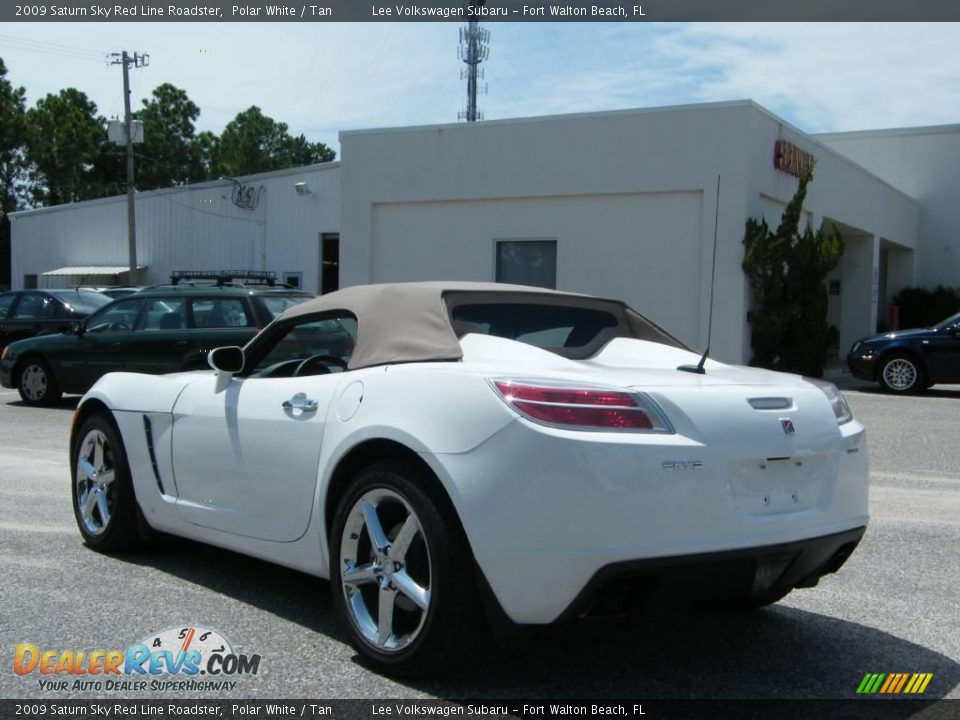 2009 saturn sky red line roadster polar white tan photo 3. Black Bedroom Furniture Sets. Home Design Ideas