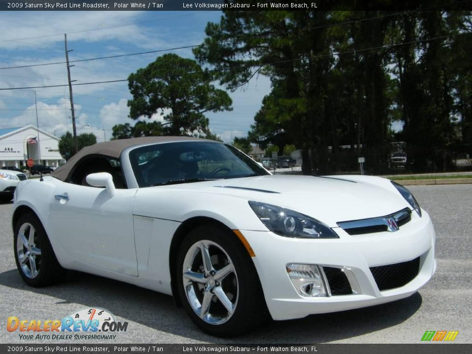 2009 saturn sky red line roadster polar white tan photo 7. Black Bedroom Furniture Sets. Home Design Ideas