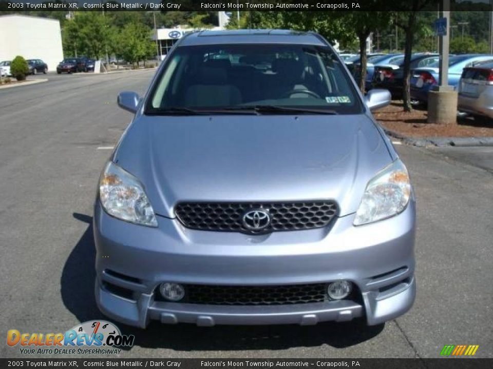 2003 Toyota Matrix Xr Cosmic Blue Metallic Dark Gray