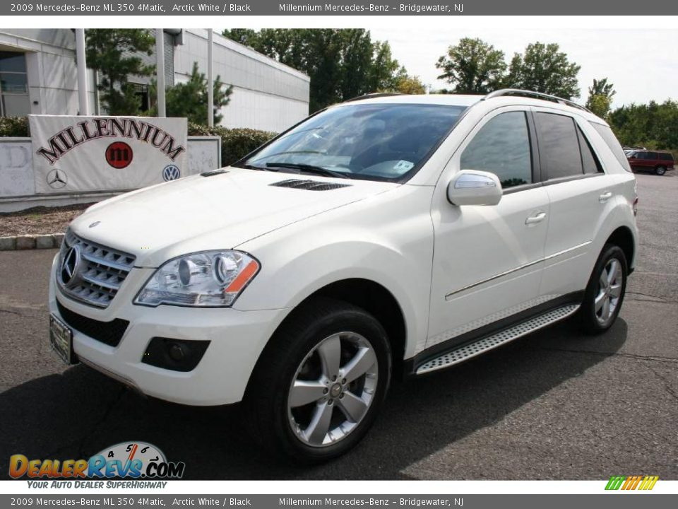 2009 mercedes benz ml 350 4matic arctic white black