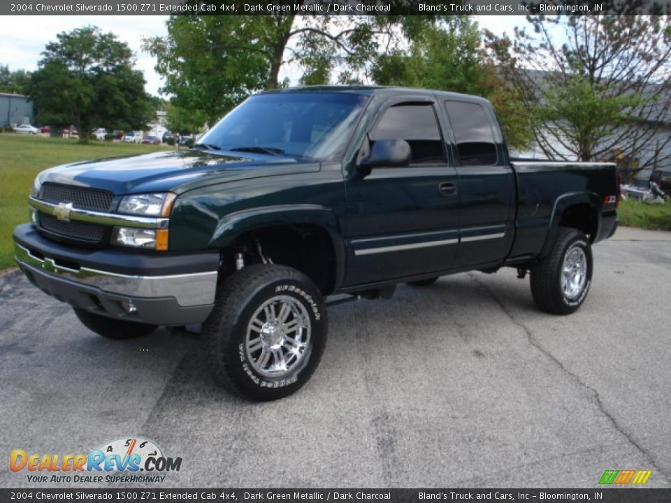 2004 chevrolet silverado 1500 z71 extended cab 4x4 dark green metallic dark charcoal photo 1. Black Bedroom Furniture Sets. Home Design Ideas