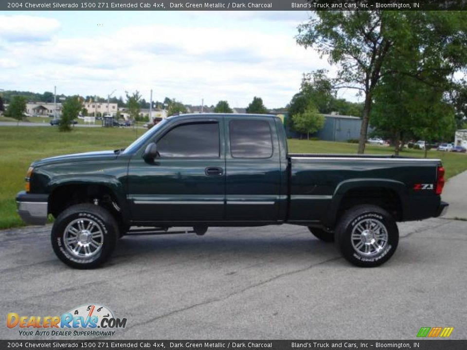 2004 chevrolet silverado 1500 z71 extended cab 4x4 dark green metallic dark charcoal photo 2. Black Bedroom Furniture Sets. Home Design Ideas