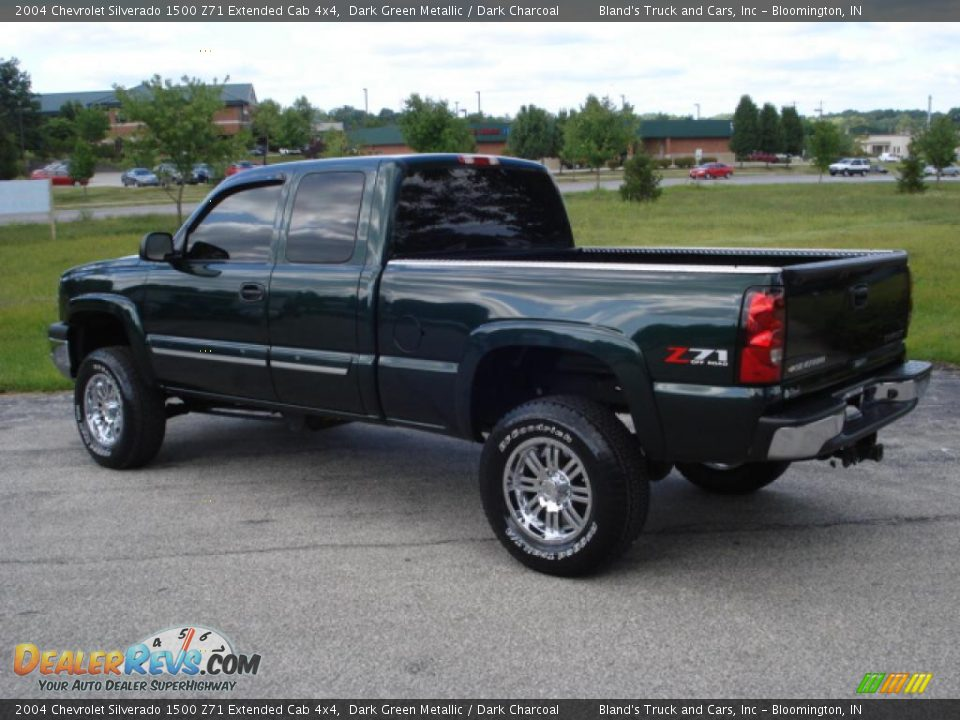 2004 chevrolet silverado 1500 z71 extended cab 4x4 dark green metallic dark charcoal photo 3. Black Bedroom Furniture Sets. Home Design Ideas