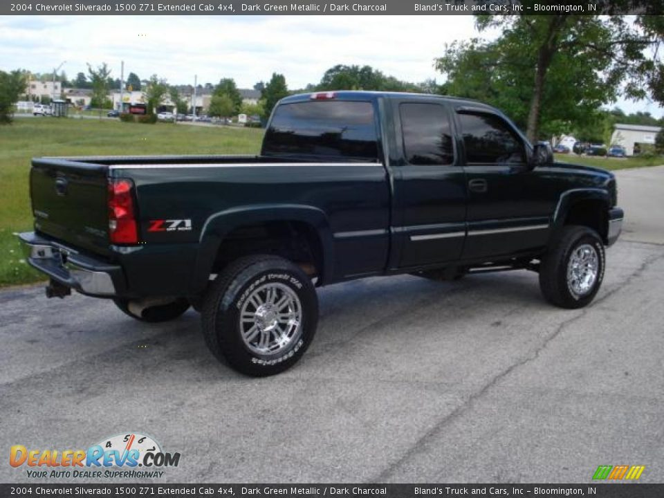 2004 chevrolet silverado 1500 z71 extended cab 4x4 dark green metallic dark charcoal photo 4. Black Bedroom Furniture Sets. Home Design Ideas
