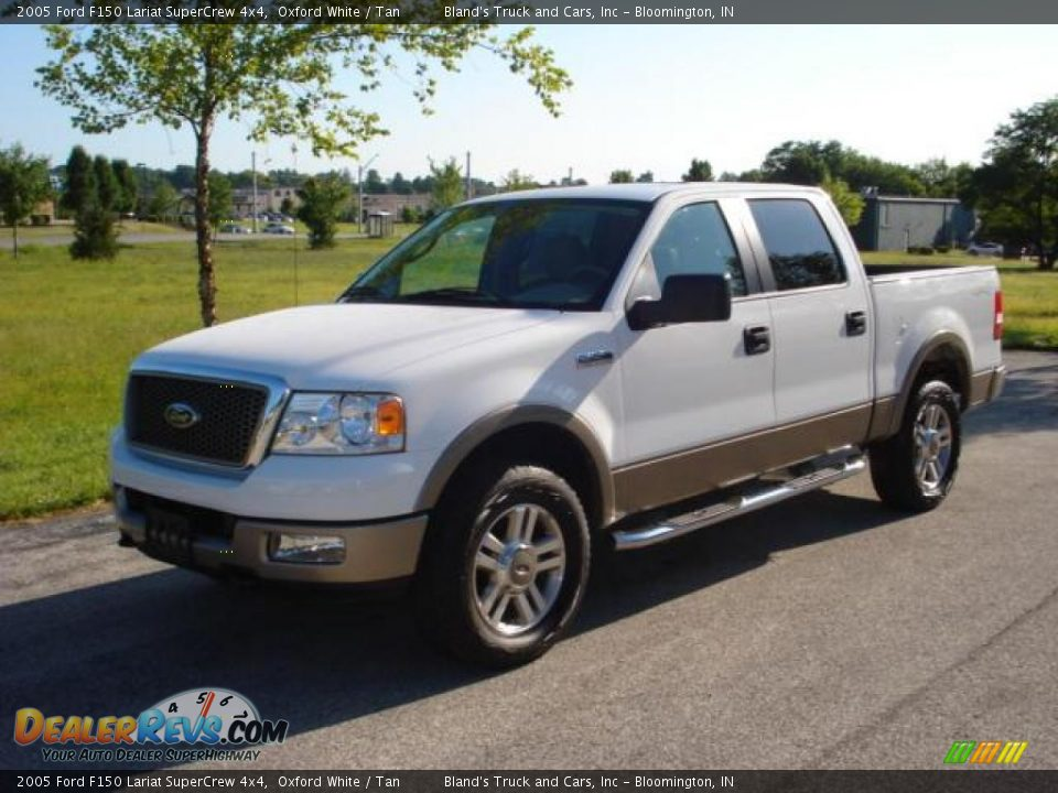 2005 ford f150 lariat supercrew 4x4 oxford white tan photo 4. Black Bedroom Furniture Sets. Home Design Ideas