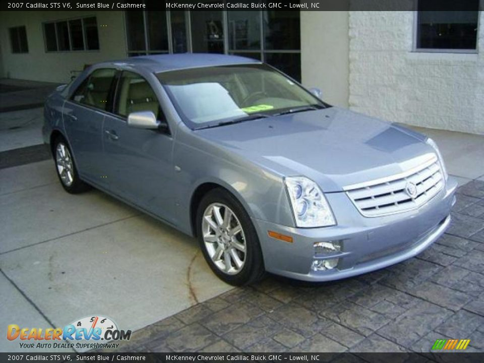 2007 Cadillac STS V6 Sunset Blue / Cashmere Photo #5 | DealerRevs.com