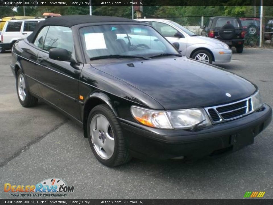 1998 saab 900 se turbo convertible black grey photo 4. Black Bedroom Furniture Sets. Home Design Ideas
