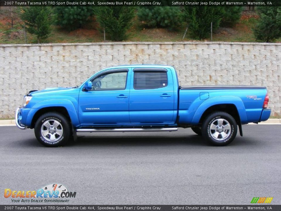2007 toyota tacoma v6 trd sport double cab 4x4 speedway blue pearl graphite gray photo 8. Black Bedroom Furniture Sets. Home Design Ideas