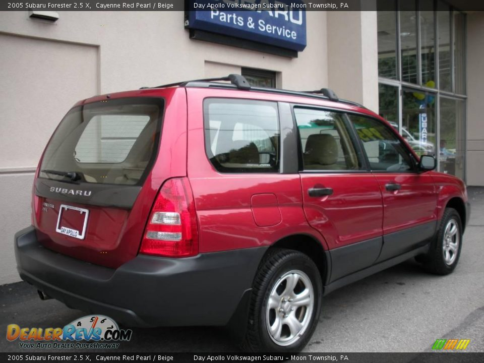 2005 subaru forester 2 5 x cayenne red pearl beige photo 3. Black Bedroom Furniture Sets. Home Design Ideas