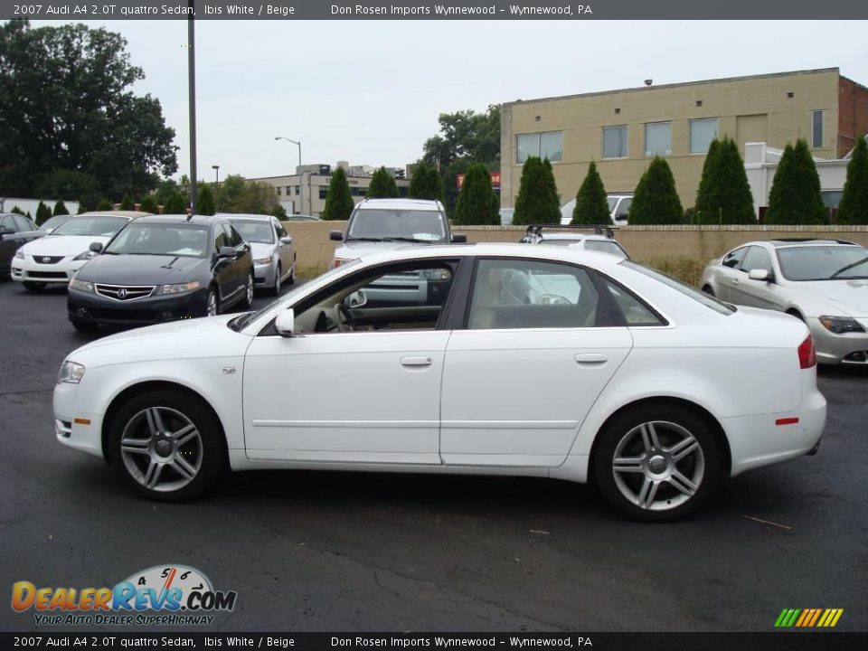 2007 audi a4 2 0t quattro sedan ibis white beige photo. Black Bedroom Furniture Sets. Home Design Ideas