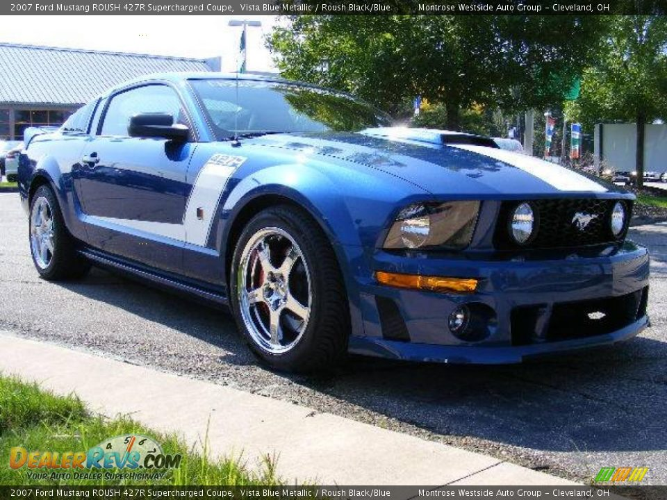 2007 ford mustang roush 427r supercharged coupe vista blue. Black Bedroom Furniture Sets. Home Design Ideas