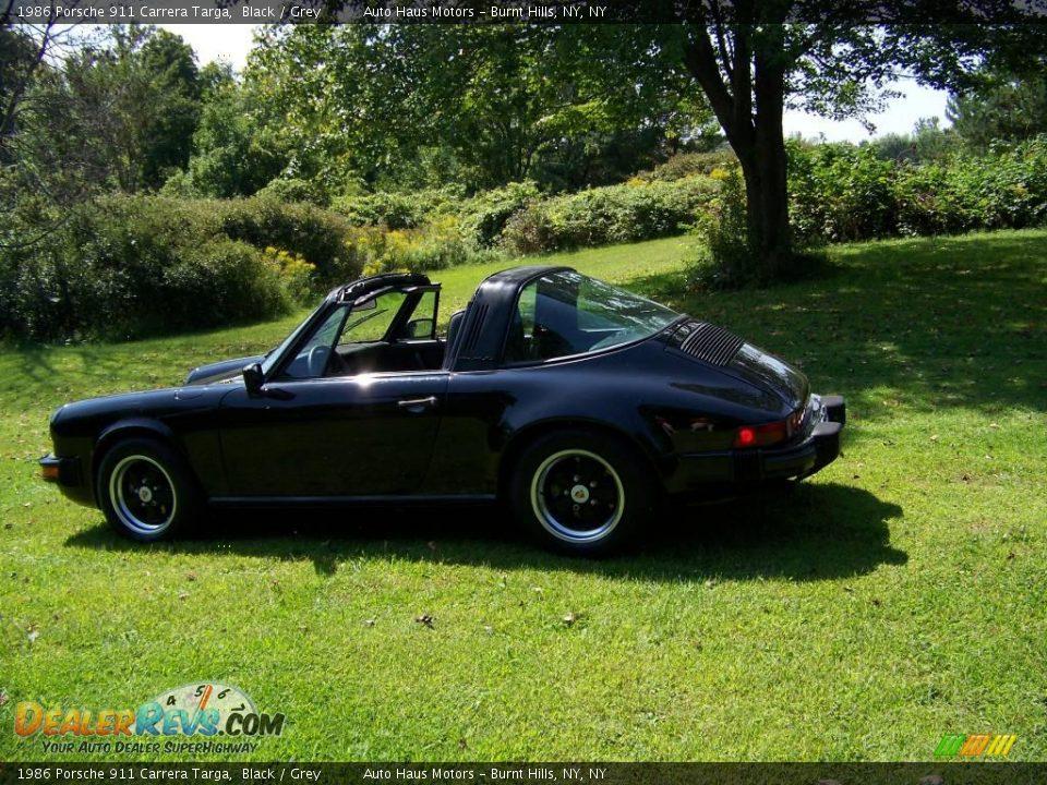 1986 Porsche 911 Carrera Targa Black Grey Photo 3